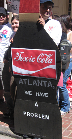 Protest At Coca-Cola Shareholders Meeting