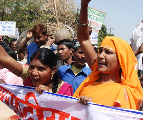 Protest at Coca-Cola Plant in Mehdiganj