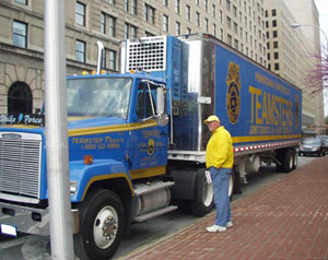 Teamsters Truck at Coca-Cola AGM
